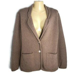 Les Copains Deluxe Wool Cashmere Cardigan Sweater